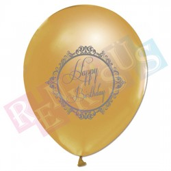 Balon Happy Birthday Gold