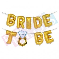 Bride To Be Gold Folyo Balon Seti
