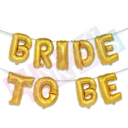 Bride To Be Gold Folyo Balon Seti Yazı