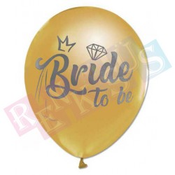 Balon Bride To Be Gold Paket