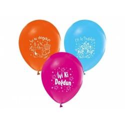Balon İyiki Doğdun Karışık Renk