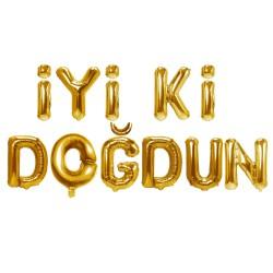 """16"""" Folyo İyiki Doğdun Balon Gold"""
