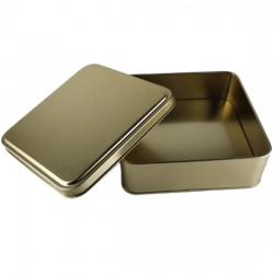 Metal Çikolata Kutusu Kare Gold