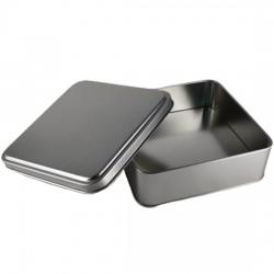 Metal Çikolata Kutusu Kare Gümüş