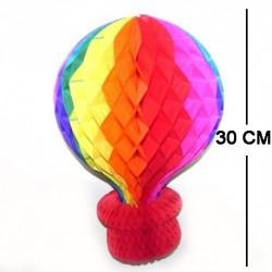 30 cm Gök Kuşağı Kapadokya Balon Petek Fener