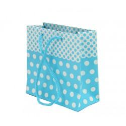 Çanta Mavi Puantiyeli 11*11 cm