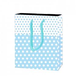 Çanta Mavi Puantiyeli 12*17 cm