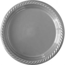 25'li Plastik Gümüş Tabak