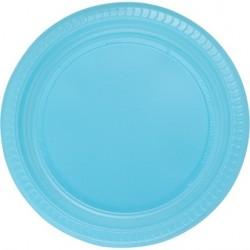 25'li Plastik Mavi Tabak