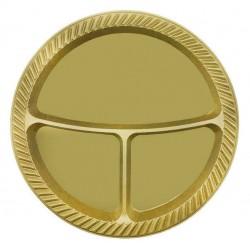 3 Bölmeli Plastik Tabak Gold 25'li