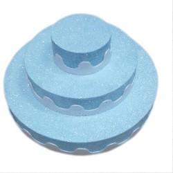 3 Katlı Strafor Pasta Mavi
